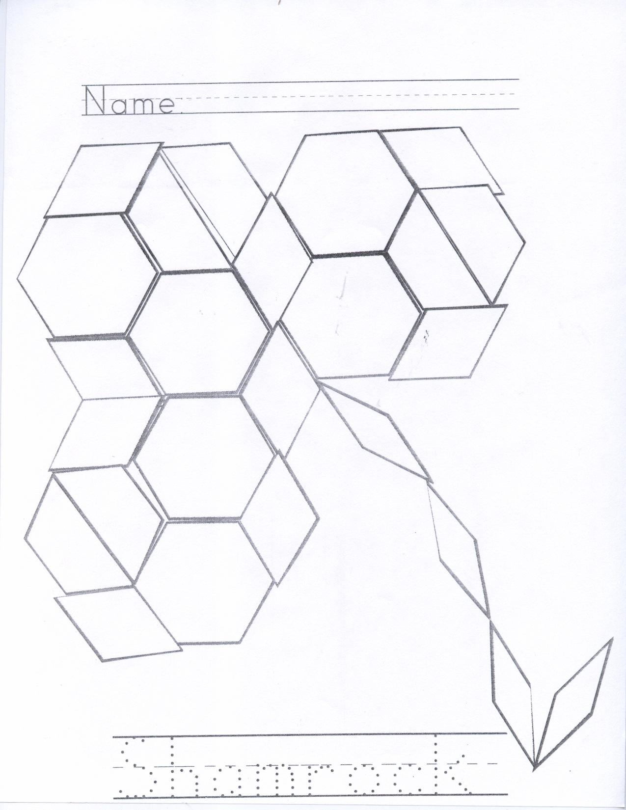 pattern block shapes kristen u0027s kindergarten