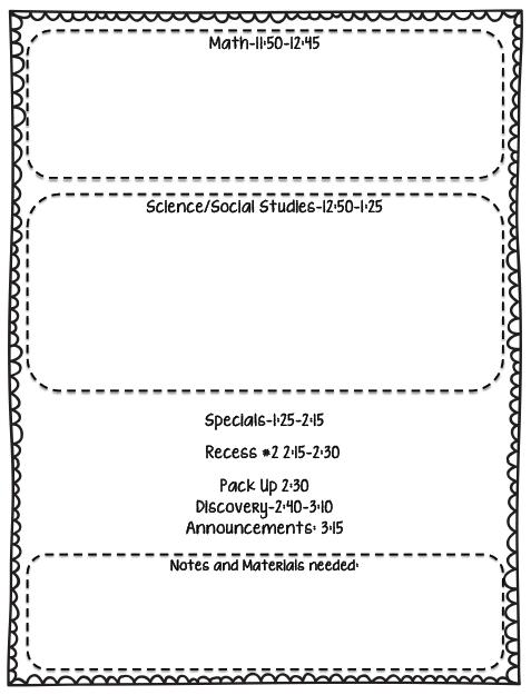 Schedule For Full Day Kindergarten Kristens Kindergarten - Kindergarten lesson plan template
