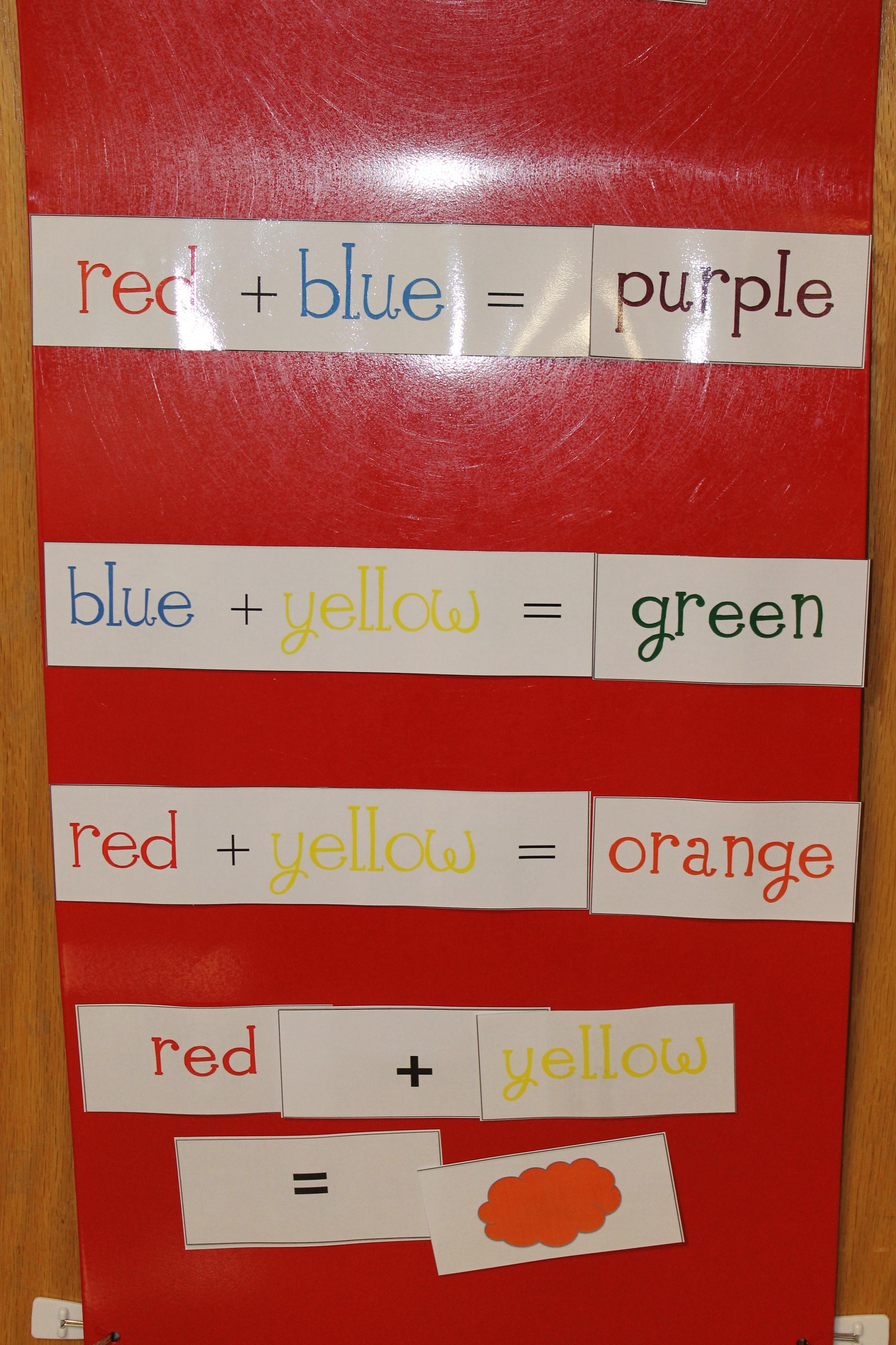 Mouse paint kristen 39 s kindergarten for Magnetic board for kids ikea