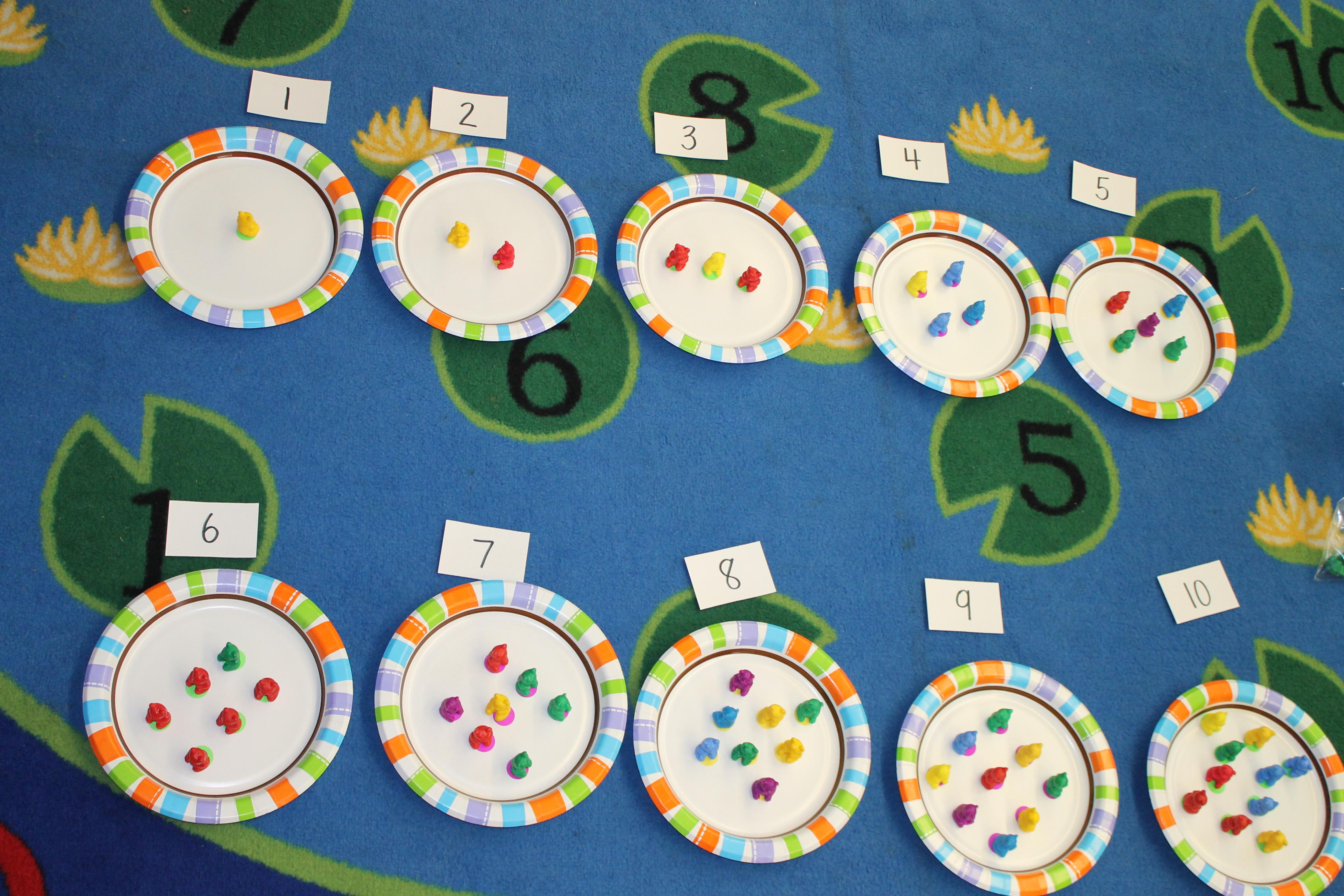Counting Plates   Kristen\'s Kindergarten
