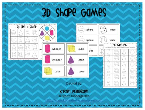 3D Shape Games