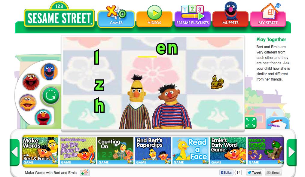 Sesame Street | Kristen's Kindergarten