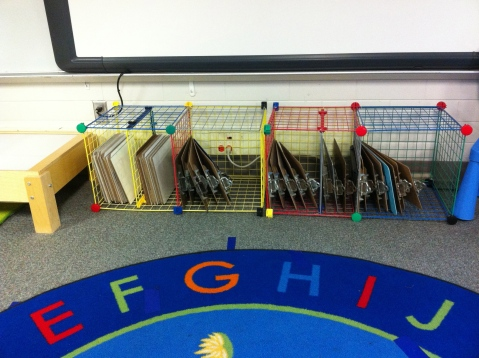 Storage under Promethean Board