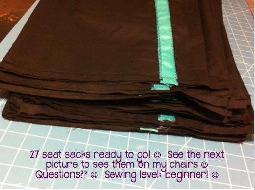 how to make seat sacks for classroom