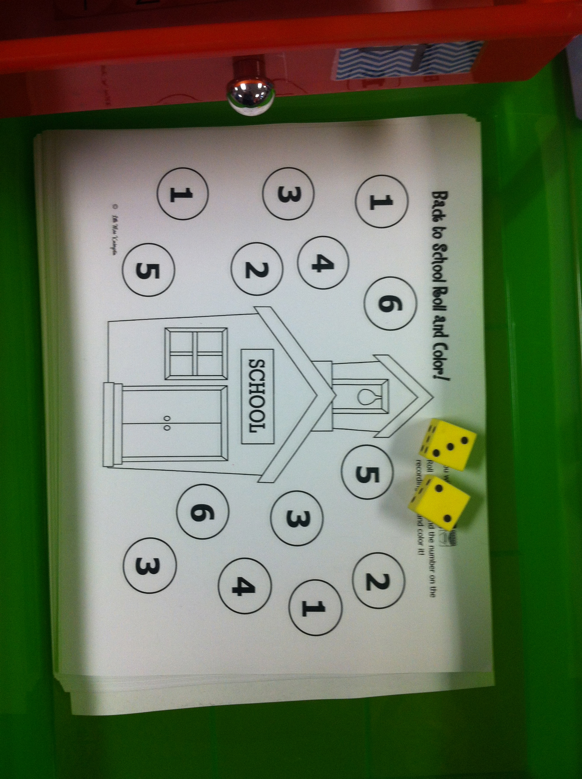 Another Roll And Cover Activity From Little Miss Kindergarten