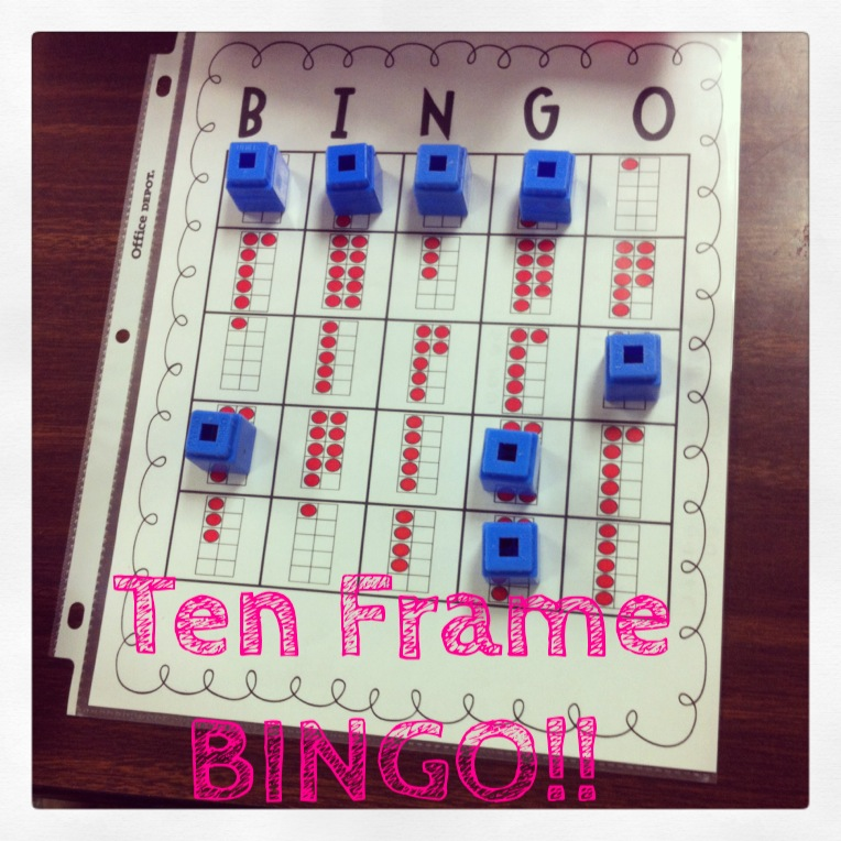 Ten Frame BINGO | Kristen\'s Kindergarten