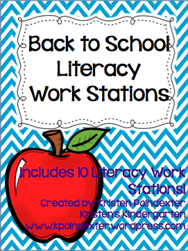 Back to School LIteracy Work Stations!