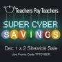 Teachers Pay Teachers Cyber Monday and Tuesdaysale!!