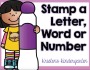 Stamp a Letter, Word, or Number