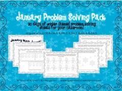 Kristen's January Problem Solving Pack