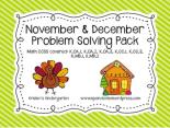 Kristen's Nov:Dec problem solving pack