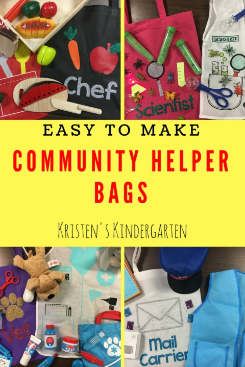 Easy to Make Community Helper Bags
