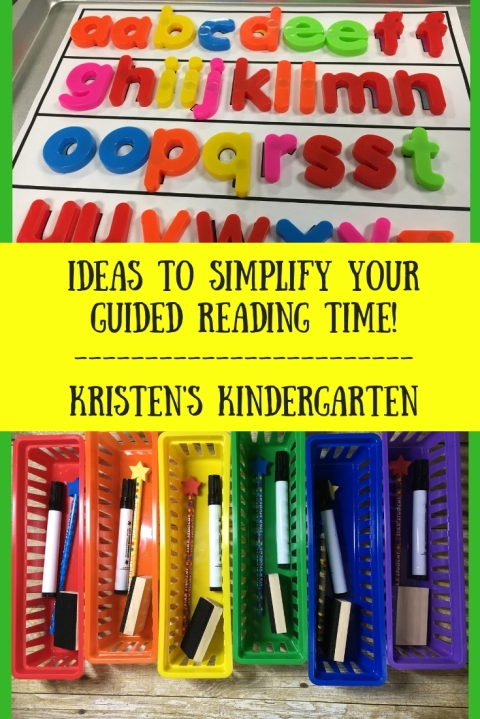 2 ideas to simplify your Guided Reading time!Kristen's Kindergarten
